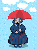 Cartoon Character Funny Granny