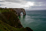 Etretat on the Upper Normandy coast in the North of France