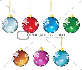 christmas balls set #4