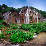 Plitvice Lakes National Park Waterfalls in the Morning, Croatia