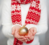 Golden decorative ball