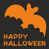 Happy Halloween party vector card