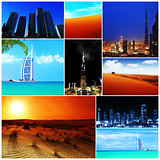 Collage of United Arab Emirates images
