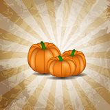 Orange Pumpkin  Background Vector Illustration