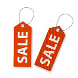 Retro Sale Labels Set . Vector Illustration