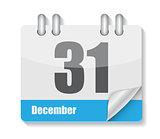 Flat Calendar Icon for Applications Vector Illustration
