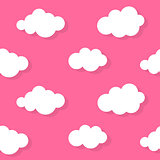 Abstract Cloud Background Vector Illustration