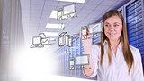 Composite image of smiling businesswoman