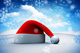 Composite image of santa hat