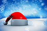 Composite image of santa hat
