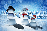Composite image of snow man