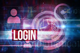 Login against pink technology dial interface design