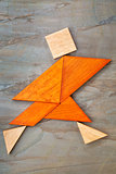 tangram running figure