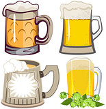 Set of beer mugs