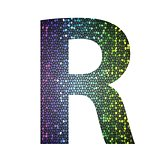 letter R of different colors