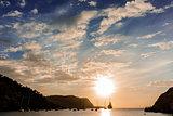 Sunset in Ibiza island