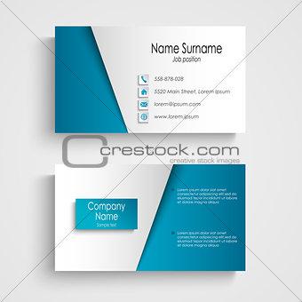 Modern light blue business card template