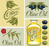 set of design elements for olive oil