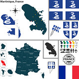Map of Martinique, France