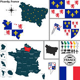Map of Picardy, France