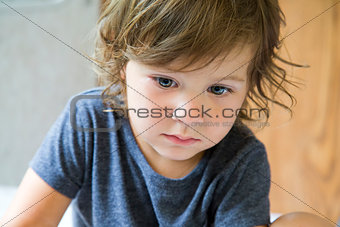 toddler and laptop