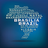 Brazil map made with name of cities