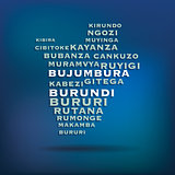 Burundi map made with name of cities