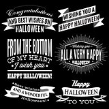 set of labels for Halloween holiday