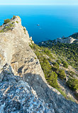 Coastline of Novyj Svit summer view (Crimea, Ukraine)