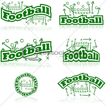 Football tactics icons