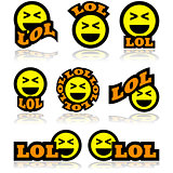 Laughing icons