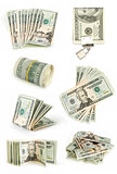 dollars colection isolated on white