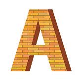 brick letter A