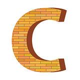 brick letter C