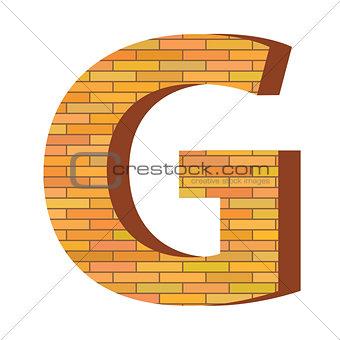 brick letter G