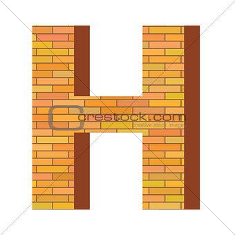 brick letter H