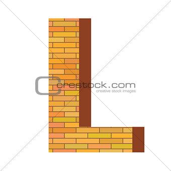 brick letter L