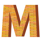 brick letter M