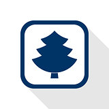 square blue icon tree
