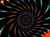 Decorative fractal spiral in a dark colors