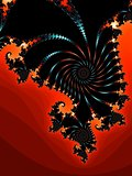 Decorative fractal background in a dark colors