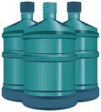 Large bottles of water