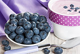 Blueberry and yogurt