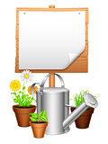 Garden equipment.