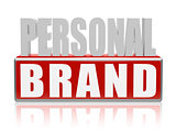 personal brand in blue white banner - letters and block