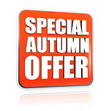 special autumn offer orange banner