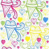 Hearts seamless background vector illustration cute  art