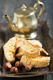 Biscotti with hazelnuts.