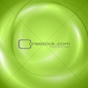 Abstract green shiny wavy design