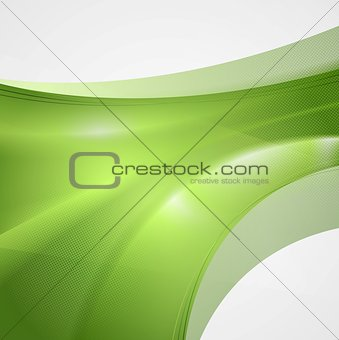 Abstract tech wavy vector background